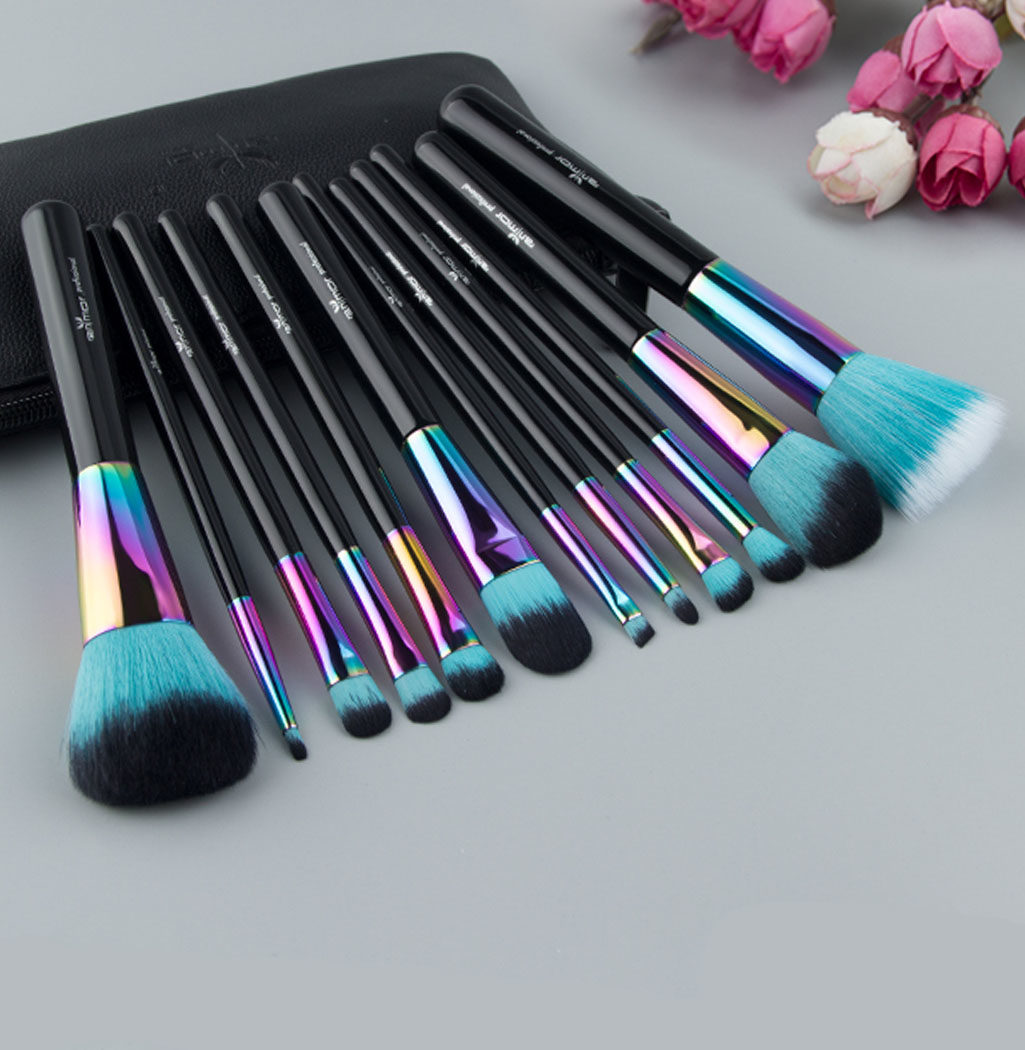 pinceaux professionnels rainbow color