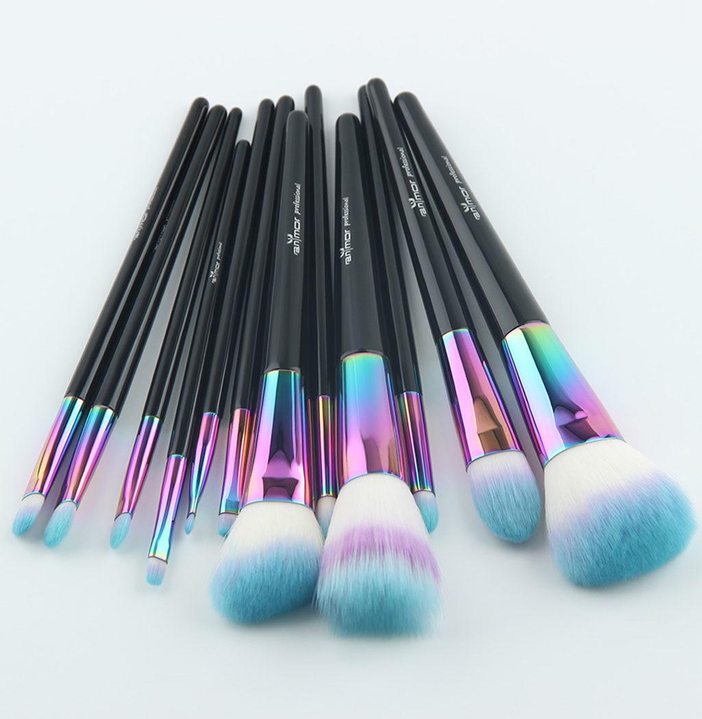 photo pinceaux professionnels rainbow color
