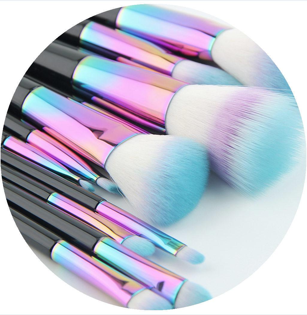 zoom pinceaux professionnels rainbow color