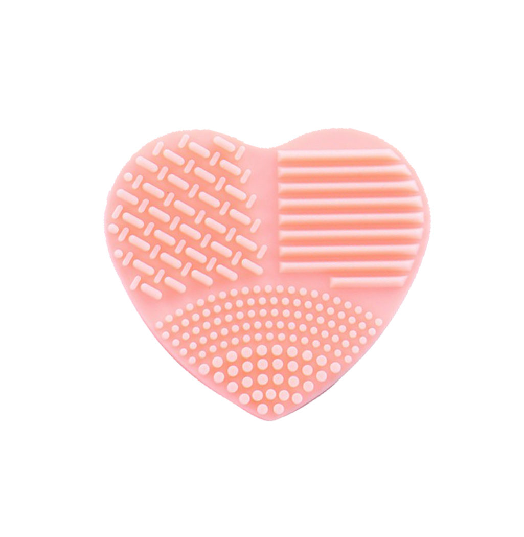 nettoyer pinceaux coeur silicone orange