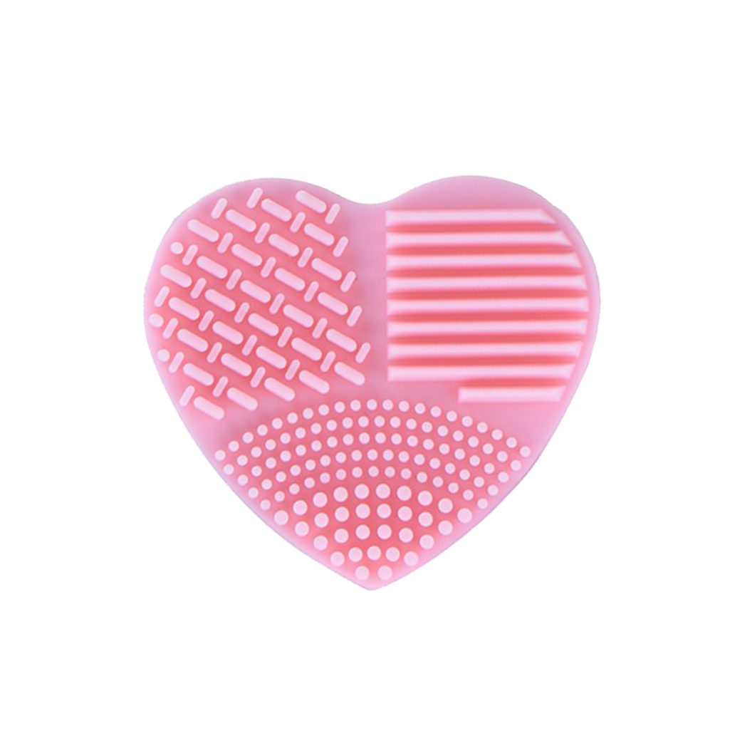 nettoyer pinceaux coeur silicone rose