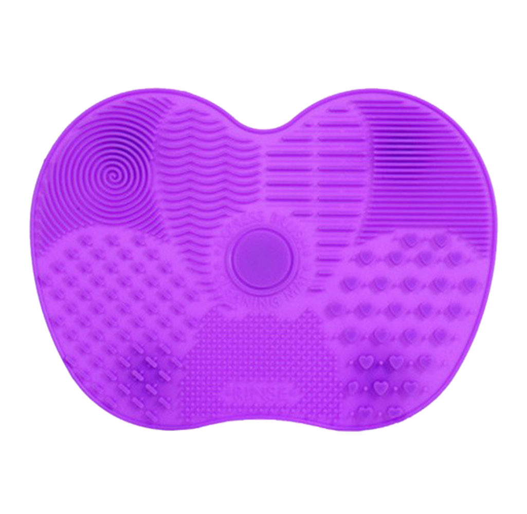 cleaner tapis en silicone pinceaux maquillage nettoyage violet