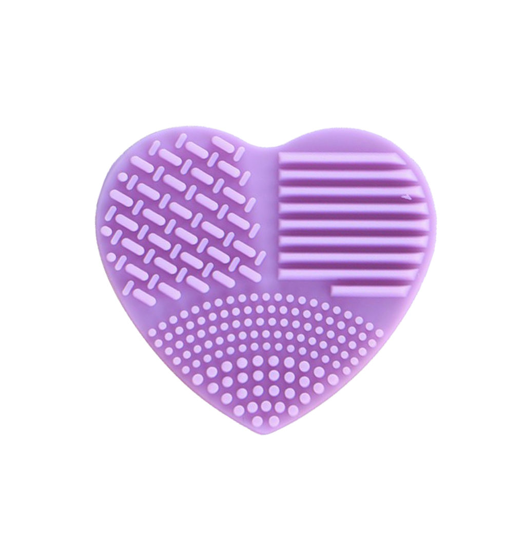 nettoyer pinceaux coeur silicone violet